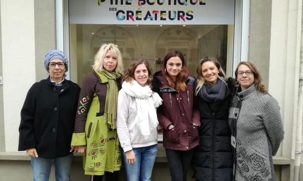 les six créatrices de la boutique école / éphémère.