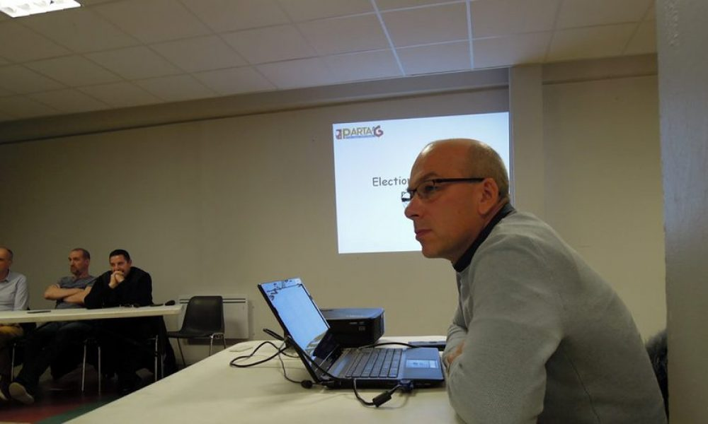 Avant d'être élu président, Pascal Roussel a présenté sur écran les bilans de 2018/ DDM.G.D.