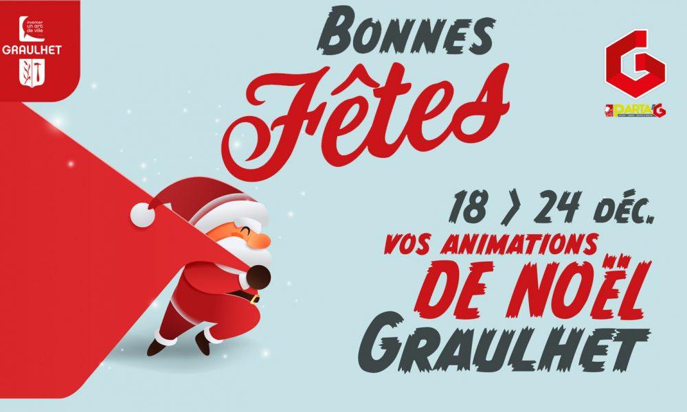 Les animations de Noël 2020 à Graulhet avec Parta'G et la Mairie de Graulhet