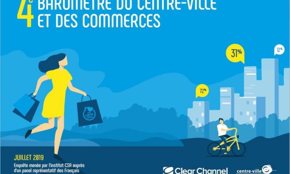 L'association Centre-Ville en Mouvement vient de dévoiler le quatrième baromètre du centre-ville et des commerces. Une étude riche d'enseignements sur la perception des Français de leur centre-ville. (L'echommerces)