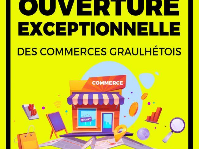 Ouverture des commerces les dimanches et lundis à Graulhet (déc. 2020)