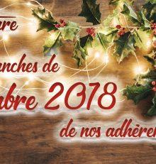Liste des adhérents ouverts les dimanches de décembre 2018