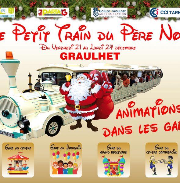 Le Petit Train de Noël à Graulhet