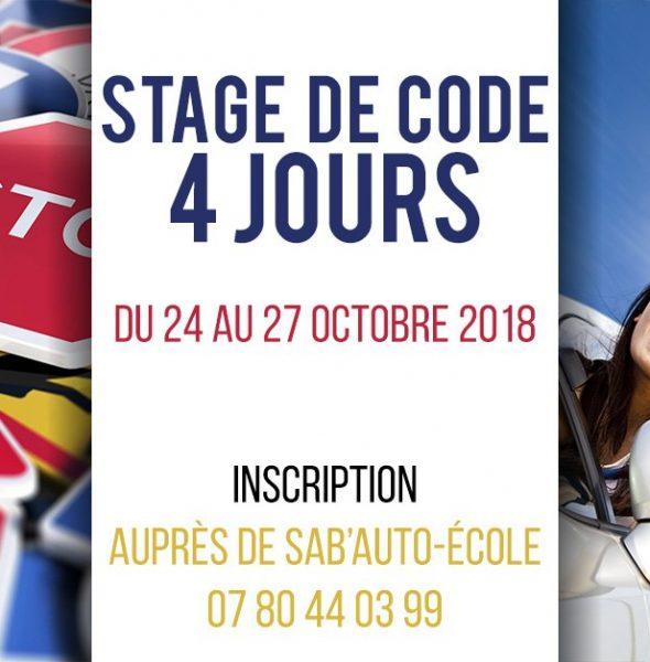 Stage Code de la route (4 jours)